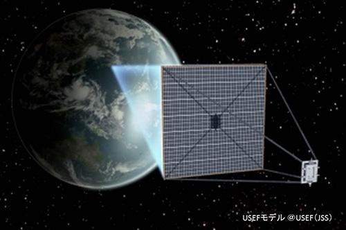 宇宙太陽発電システムのイメージ図